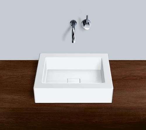 Alape Waschbecken AB.Q450.1 Weiß, pflegeleicht