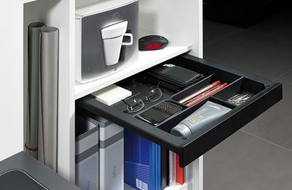 Schreibmaterialschalensystem SmarTray Kunststoff von Hettich