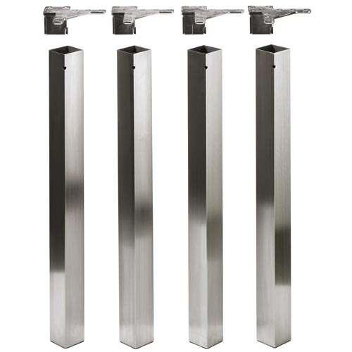 Design-Tischbein, Möbelfuß Afia 700 mm, Edelstahl gebürstet