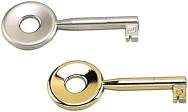 Schlüssel Typ 27, vernickelt, matt