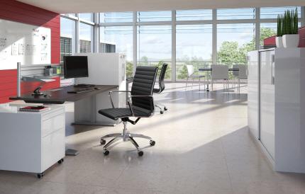Büroorganisation am Schreibtisch von Hettich