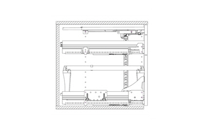2D-Schnittzeichnungen Büromöbelsysteme von Hettich