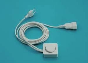 Netzanschlussleitung mit Blendenschalter