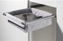 Ausziehbare Textil- und Wäschekörbe von Hettich