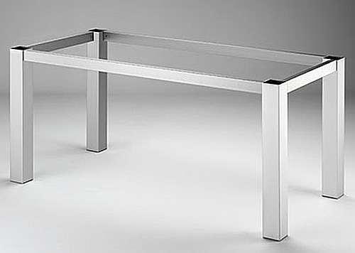 Tischgestell 80 edelstahlfarbig