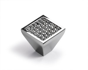 Möbelknopf Lodi 23 x 25 mm, Verchromt glanz