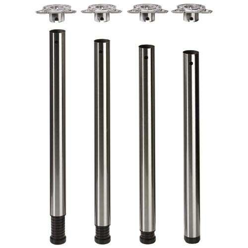 """Set Stahl-Tischbein """" Femi """" 710 mm Länge, mit großem Verstellbereich"""