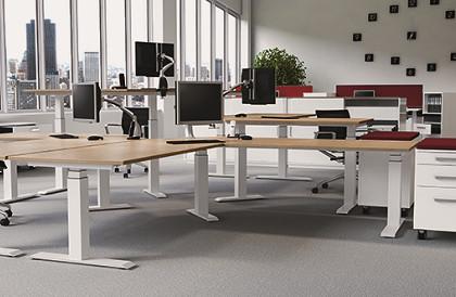 LegaDrive, Tischgestelle mit elektromotorischer Höhenverstellung von Hettich