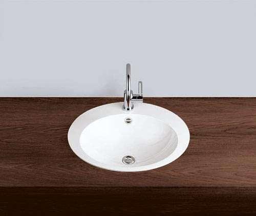 Alape Waschbecken EB.O600H Weiß, pflegeleicht