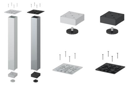 LegaDrive Gestell-Komponenten von Hettich
