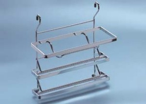 Papierrollenhalter mit Abrisskante für Relingsystem Linero K16