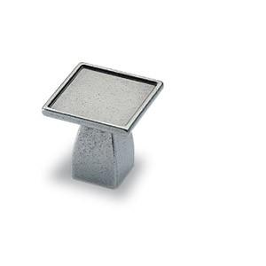 Möbelknopf Dipo 16 x 30 mm, Zinn Optik