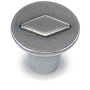 Möbelknopf Barcino, Zinn Optik