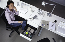 Schreibtischschmalcontainer von Hettich