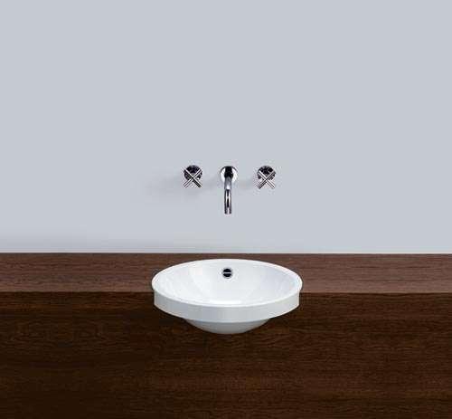 Alape Waschbecken HB.K450 Weiß, ohne Überlauf