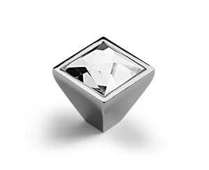 Möbelknopf Sava 25 x 28 mm, Verchromt glanz