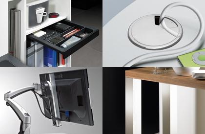 Tisch- und Büroorganisation