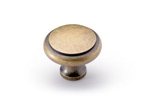 Möbelknopf Solva, Messing Optik antik