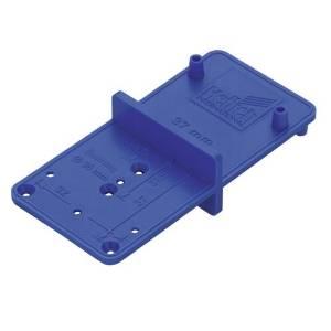 Bohrschablone Multiblue für Scharniere, Montageplatten, Verbindungsbeschläge und Bodenträger