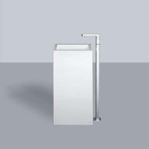 Alape Waschtisch WT.RX450QS Weiß, pflegeleicht, freistehend